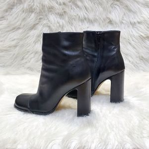 Pazzo 90s style leather square toe booties
